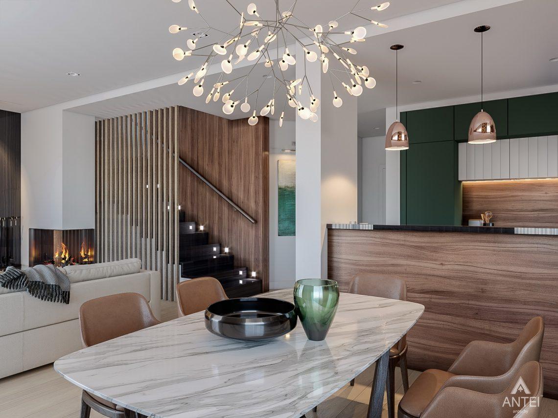 Дизайн интерьера таунхауса в Варшаве - кухня фото №2