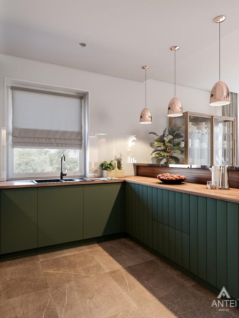 Дизайн интерьера таунхауса в Варшаве - кухня фото №5