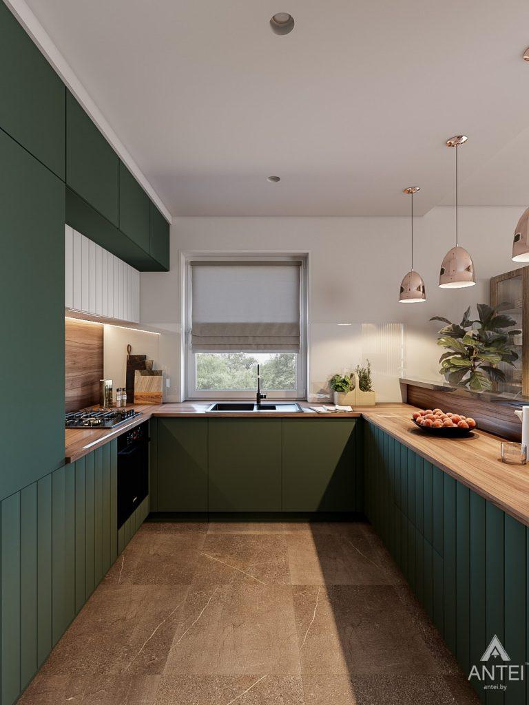 Дизайн интерьера таунхауса в Варшаве - кухня фото №4