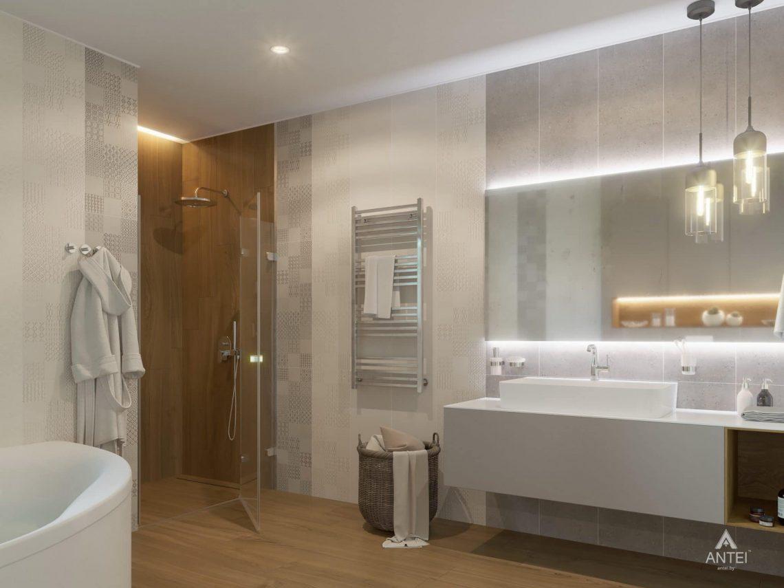 Дизайн интерьера одноэтажного загородного дома в д. Улуковье - ванная фото №1