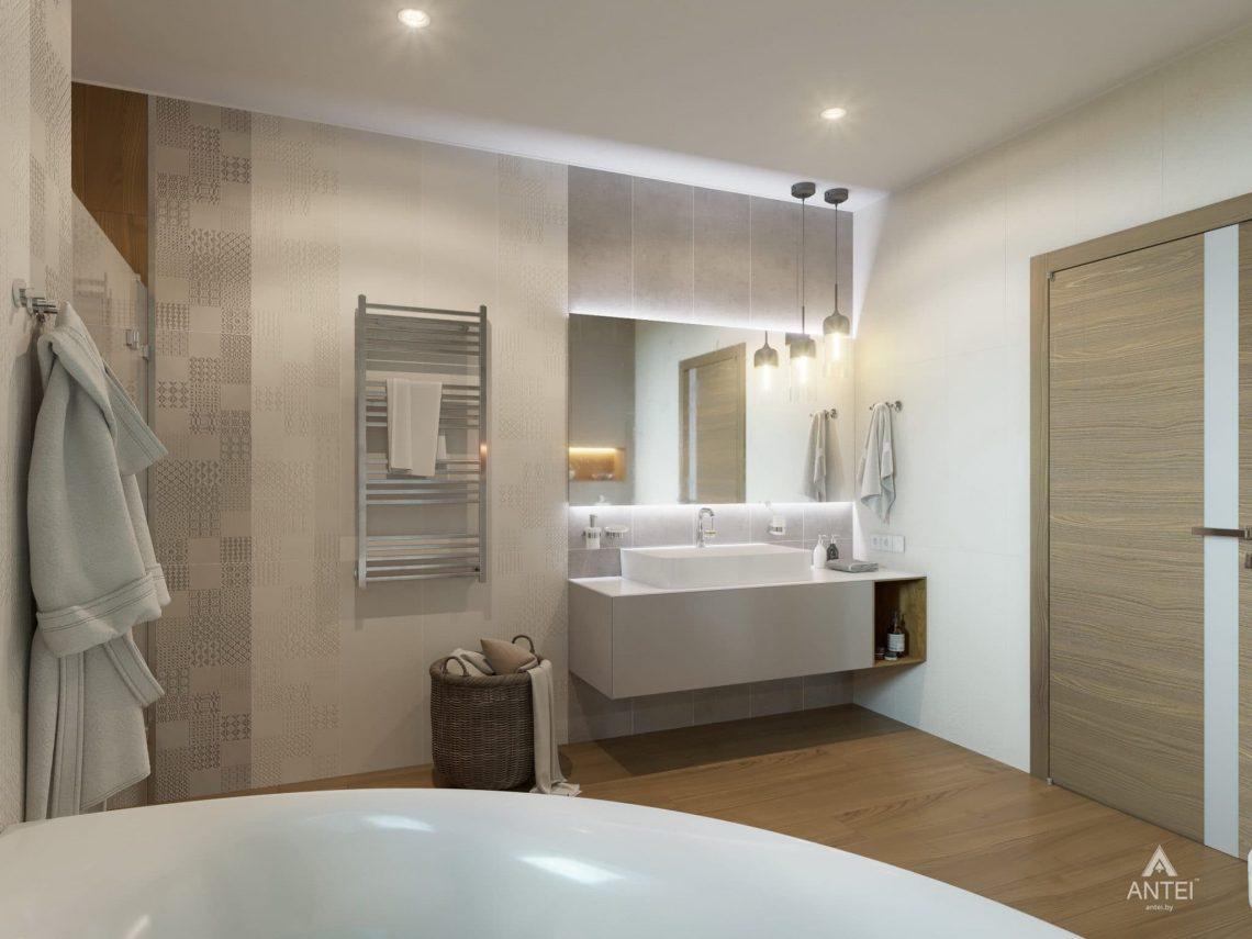 Дизайн интерьера одноэтажного загородного дома в д. Улуковье - ванная фото №2