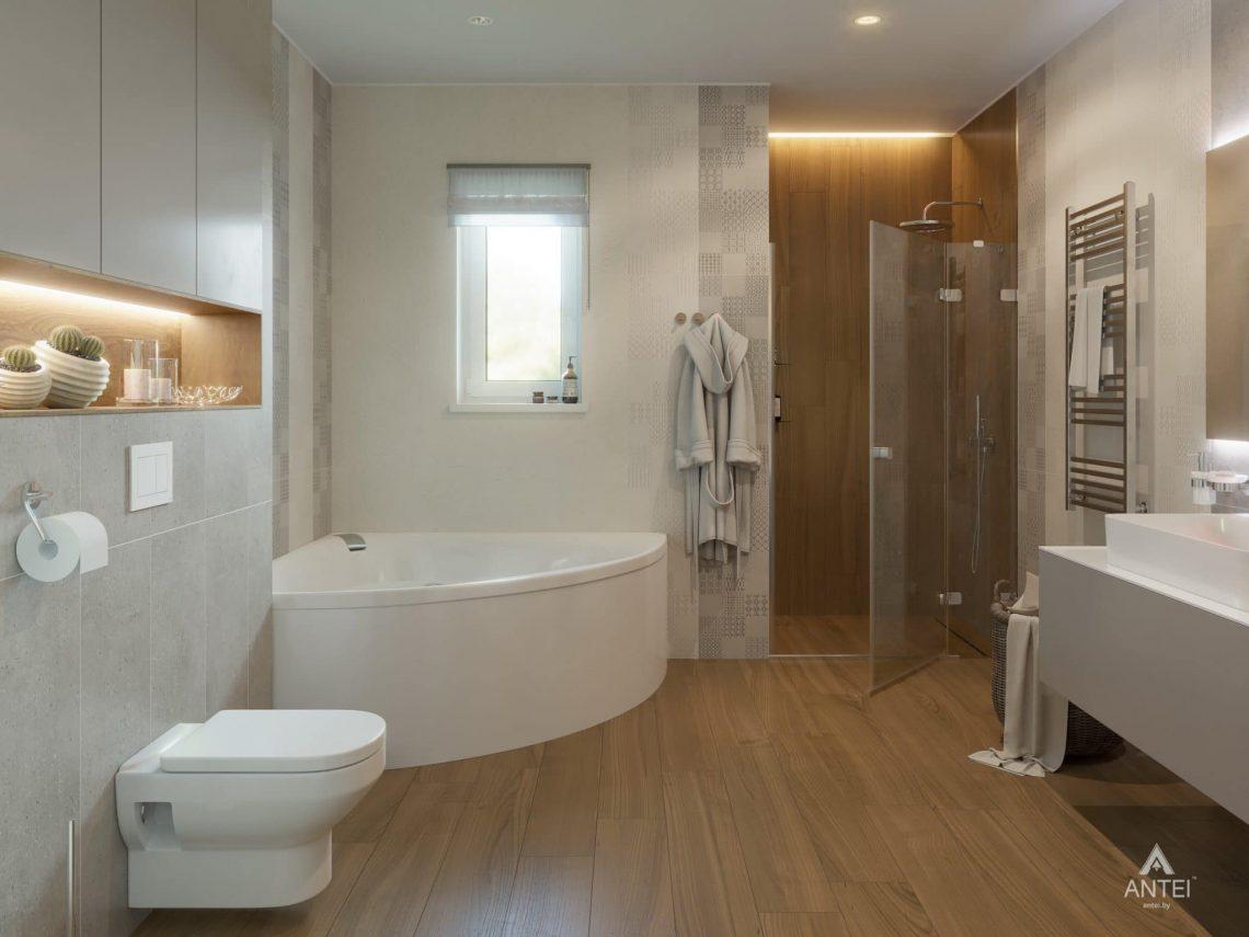 Дизайн интерьера одноэтажного загородного дома в д. Улуковье - ванная фото №3