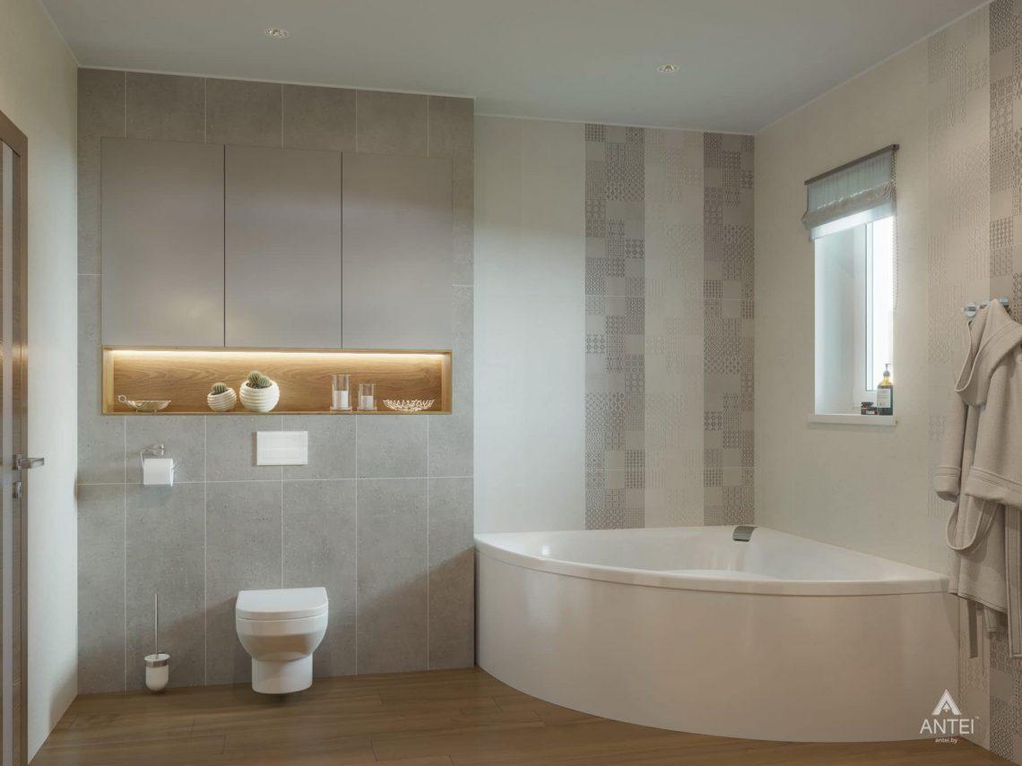 Дизайн интерьера одноэтажного загородного дома в д. Улуковье - ванная фото №4