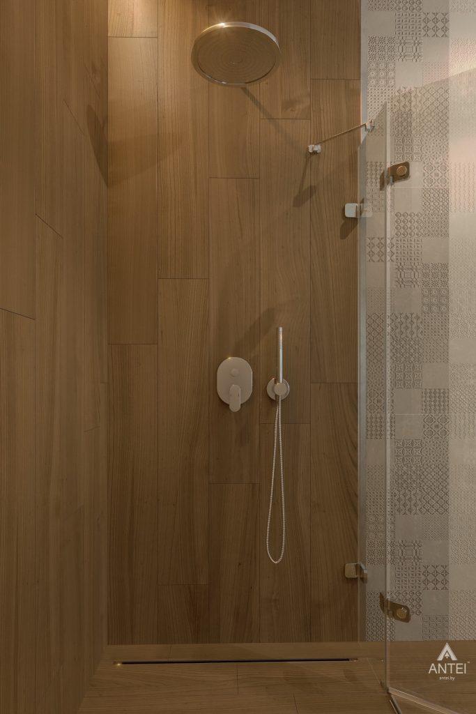 Дизайн интерьера одноэтажного загородного дома в д. Улуковье - ванная фото №5