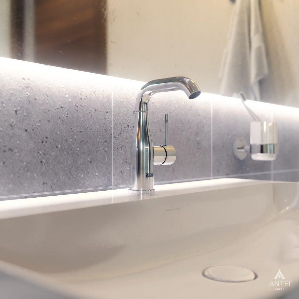 Дизайн интерьера одноэтажного загородного дома в д. Улуковье - ванная фото №8