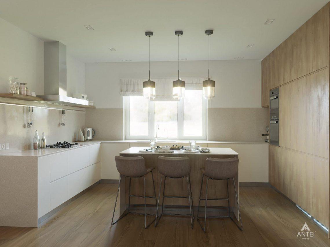 Дизайн интерьера одноэтажного загородного дома в д. Улуковье - кухня фото №1