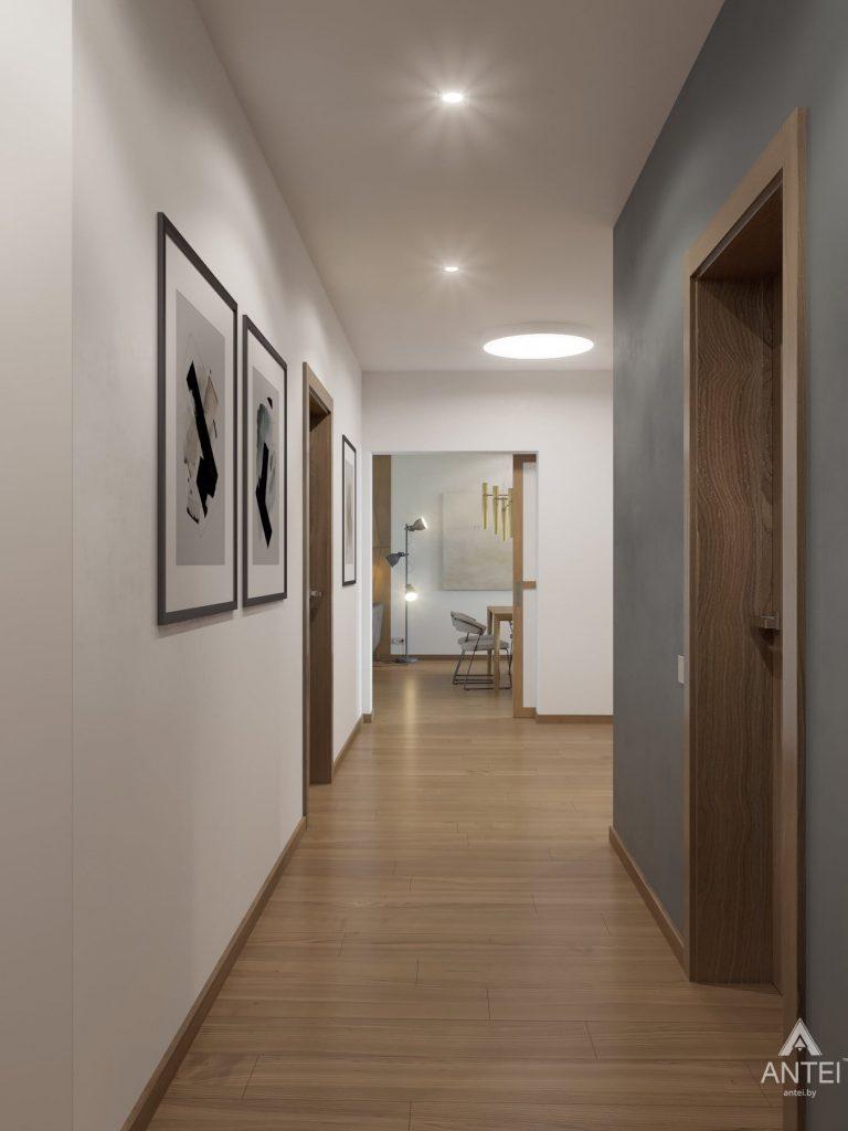 Дизайн интерьера одноэтажного загородного дома в д. Улуковье - прихожая фото №3