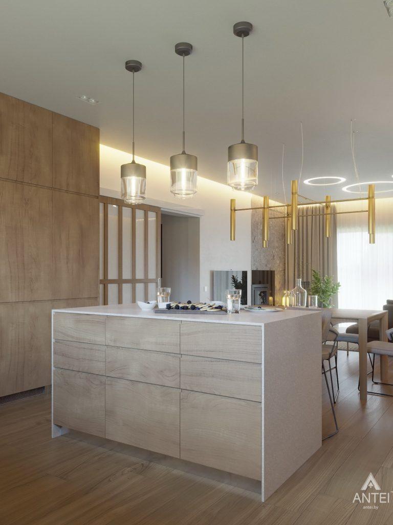 Дизайн интерьера одноэтажного загородного дома в д. Улуковье - кухня фото №5