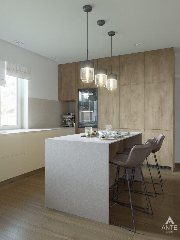 Дизайн интерьера одноэтажного загородного дома в д. Улуковье - кухня фото №6