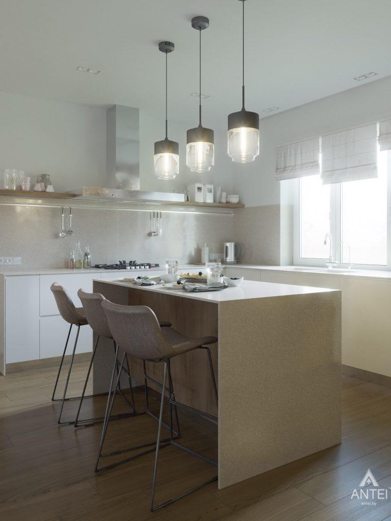 Дизайн интерьера одноэтажного загородного дома в д. Улуковье - кухня фото №8