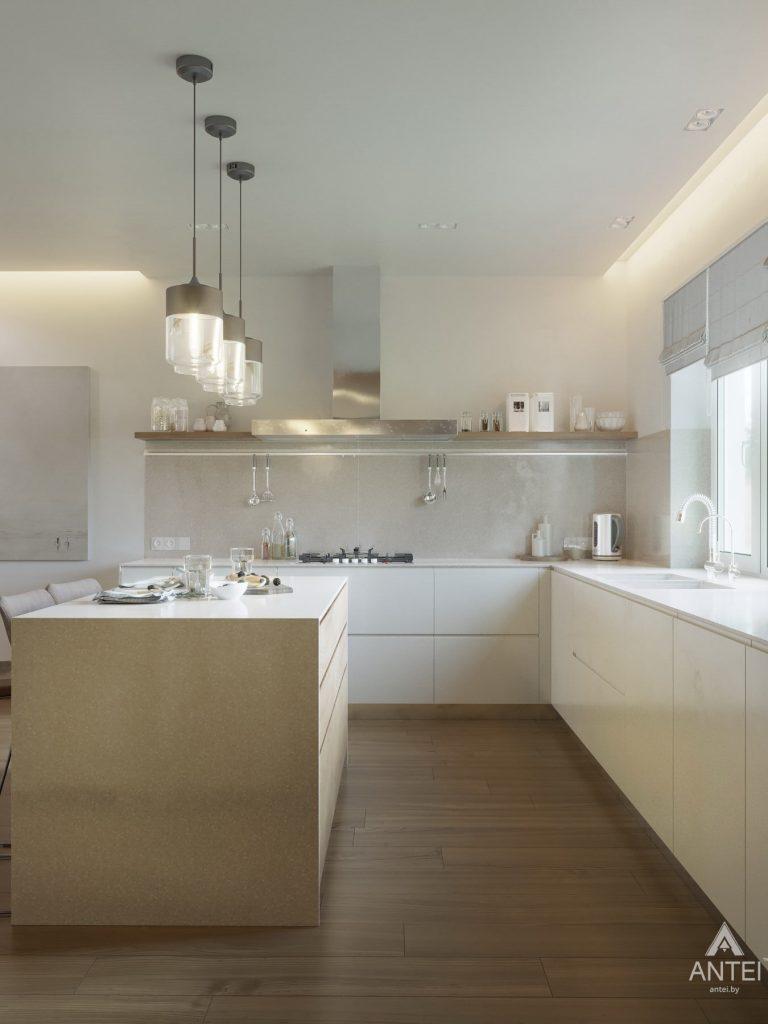 Дизайн интерьера одноэтажного загородного дома в д. Улуковье - кухня фото №9