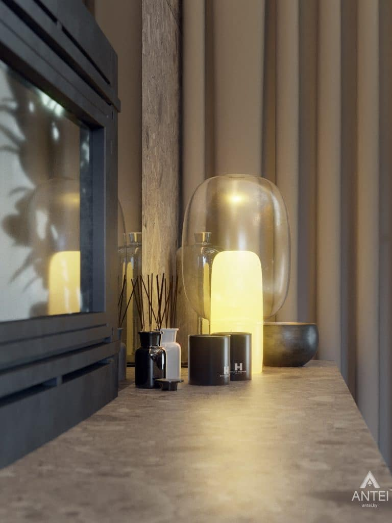 Дизайн интерьера одноэтажного загородного дома в д. Улуковье - кухня фото №12