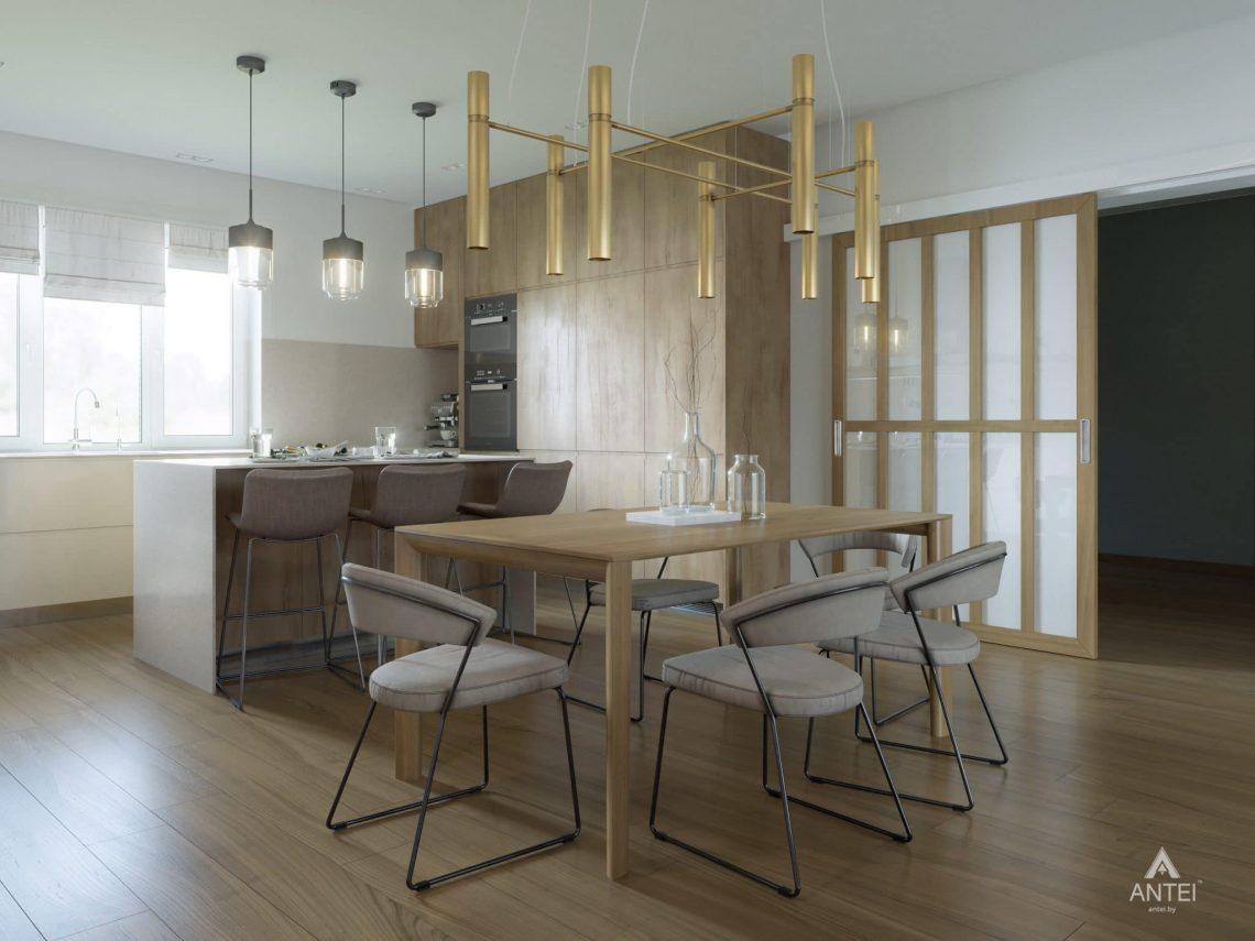 Дизайн интерьера одноэтажного загородного дома в д. Улуковье - кухня фото №2