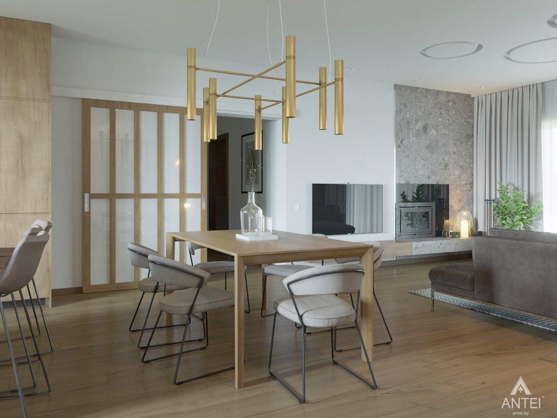 Дизайн интерьера одноэтажного загородного дома в д. Улуковье - кухня фото №3