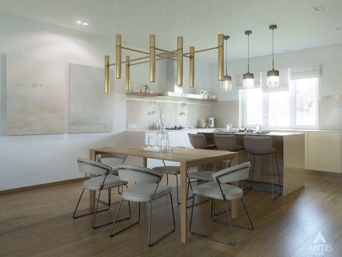 Дизайн интерьера одноэтажного загородного дома в д. Улуковье - кухня фото №4