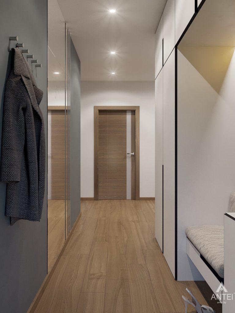 Дизайн интерьера одноэтажного загородного дома в д. Улуковье - прихожая фото №2