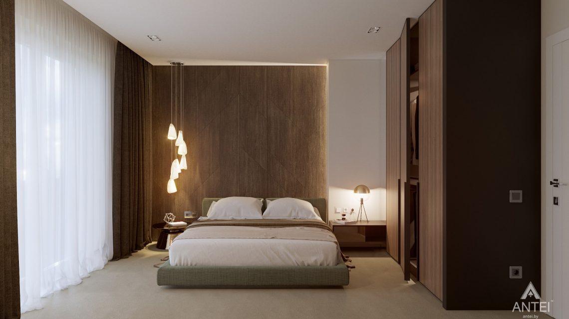 Дизайн интерьера таунхауса в Варшаве - спальня фото №1