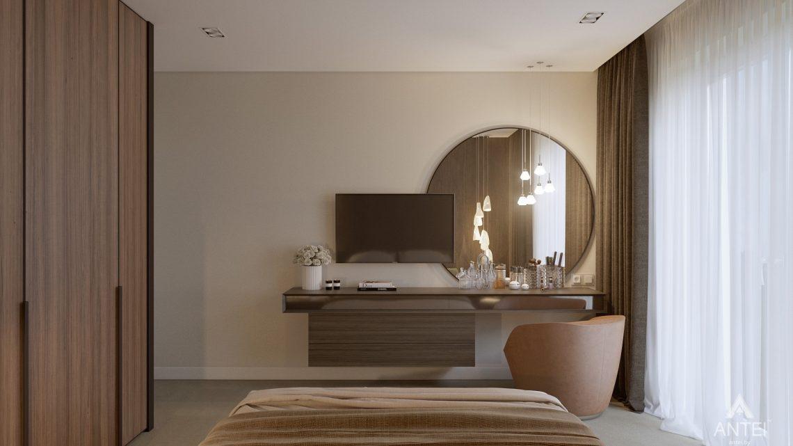 Дизайн интерьера таунхауса в Варшаве - спальня фото №2