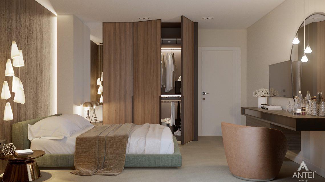 Дизайн интерьера таунхауса в Варшаве - спальня фото №3
