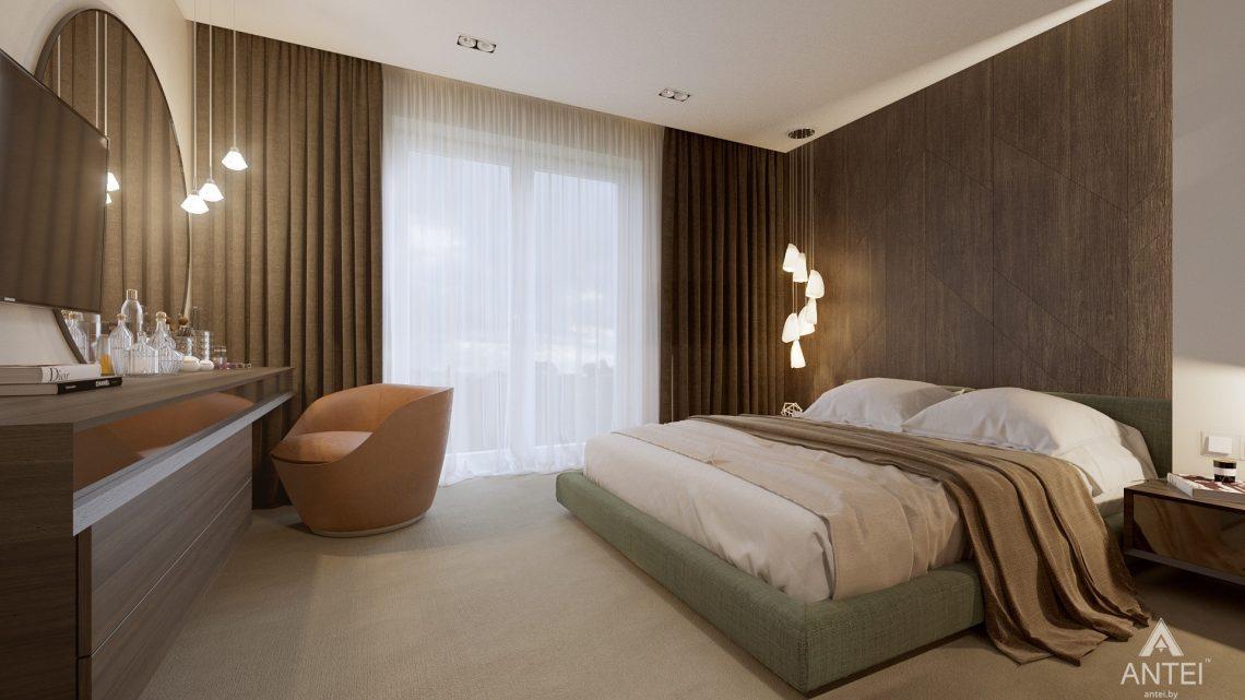 Дизайн интерьера таунхауса в Варшаве - спальня фото №4