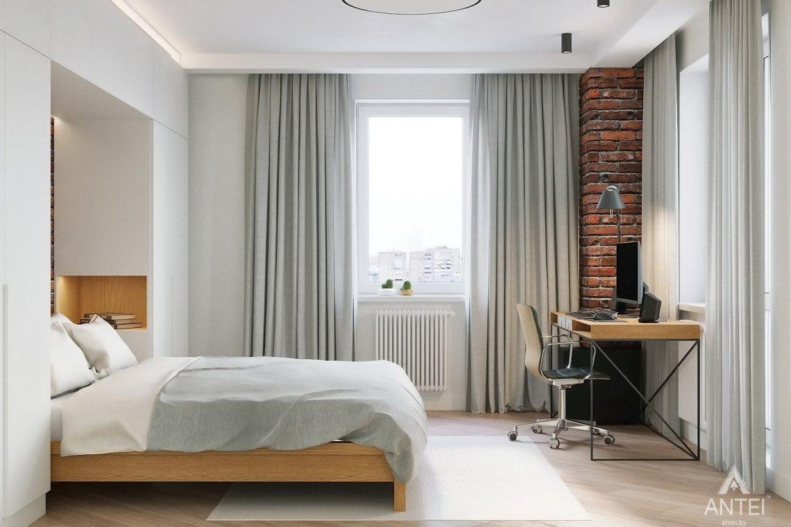 Дизайн интерьера двухкомнатной квартиры в Гомеле, ул. Советская - спальня фото №2