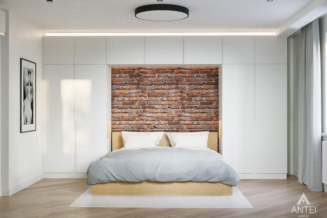 Дизайн интерьера двухкомнатной квартиры в Гомеле, ул. Советская - спальня фото №1