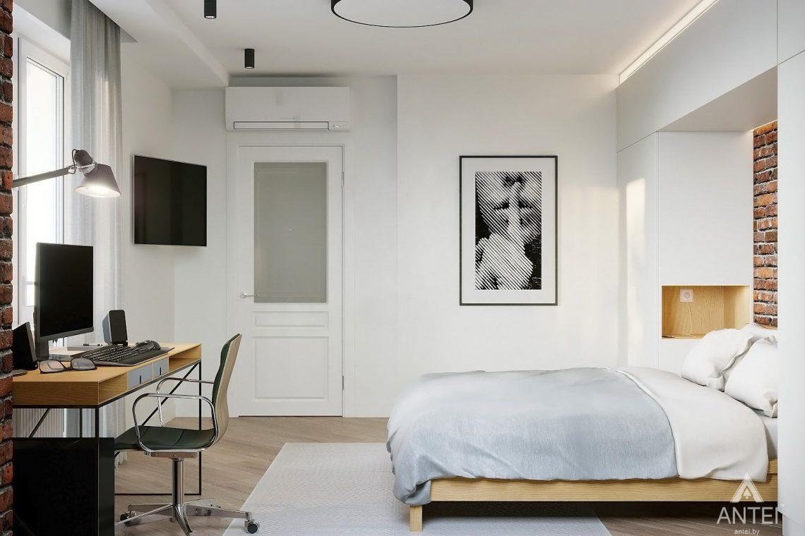 Дизайн интерьера двухкомнатной квартиры в Гомеле, ул. Советская - спальня фото №4