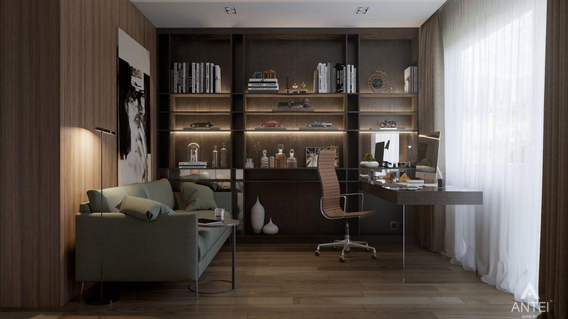 Дизайн интерьера таунхауса в Варшаве - кабинет фото №1