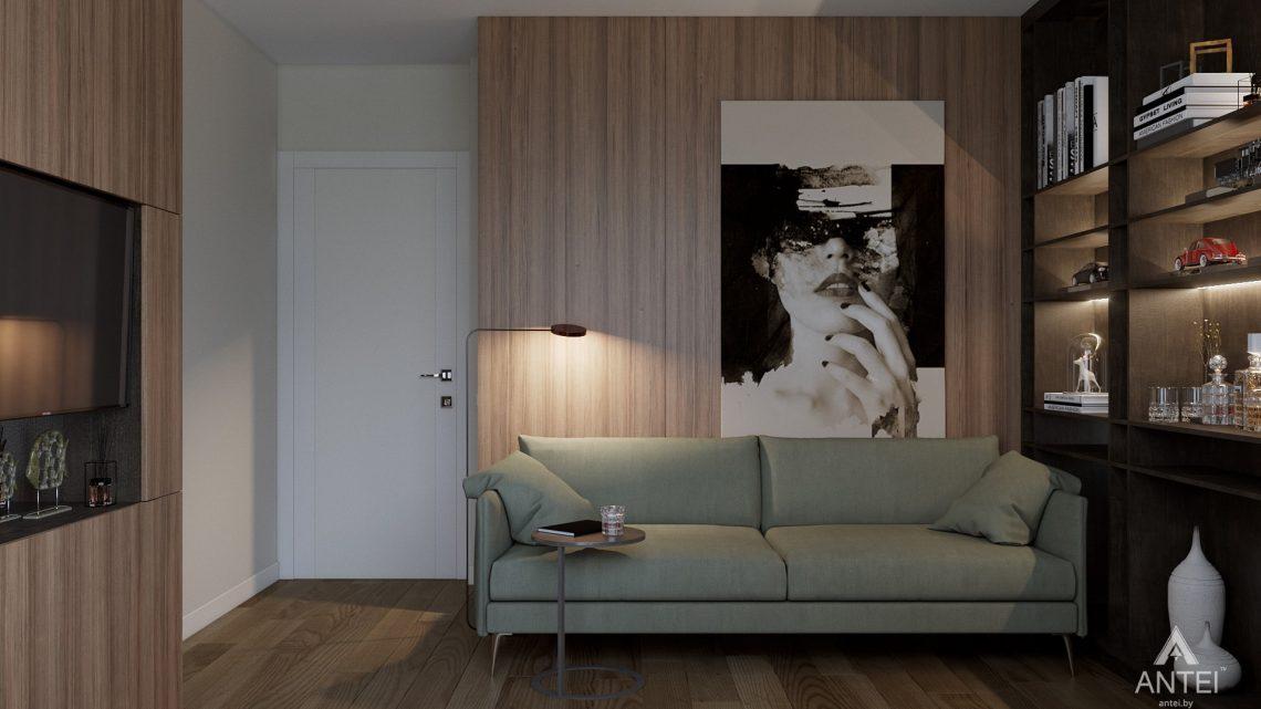 Дизайн интерьера таунхауса в Варшаве - кабинет фото №2