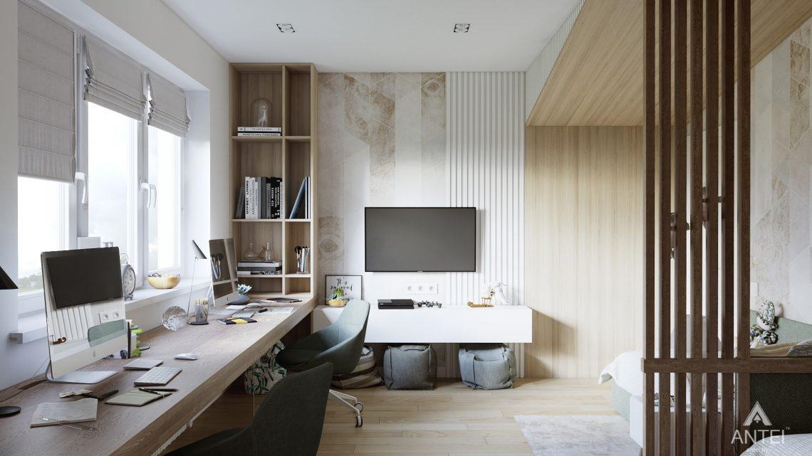 Дизайн интерьера трехкомнатная квартира в Минске, ул. Нововиленская - детская комната фото №1