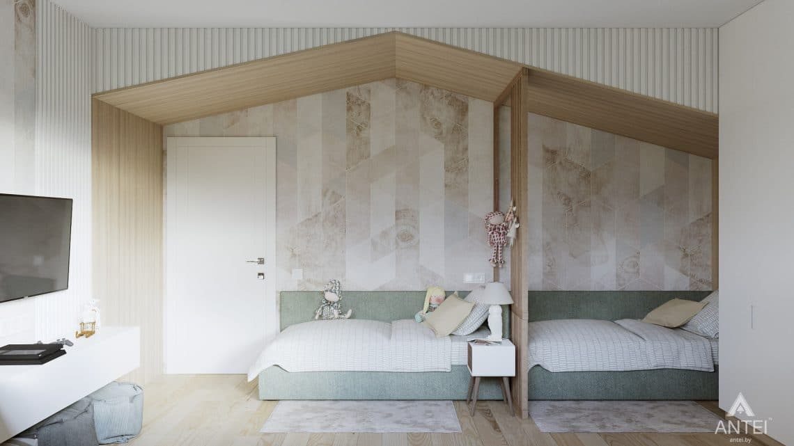 Дизайн интерьера трехкомнатная квартира в Минске, ул. Нововиленская - детская комната фото №2