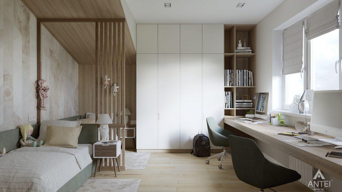 Дизайн интерьера трехкомнатная квартира в Минске, ул. Нововиленская - детская комната фото №3