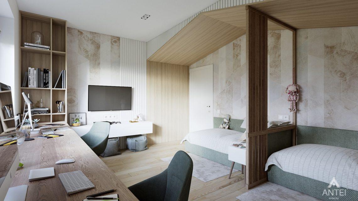 Дизайн интерьера трехкомнатная квартира в Минске, ул. Нововиленская - детская комната фото №5