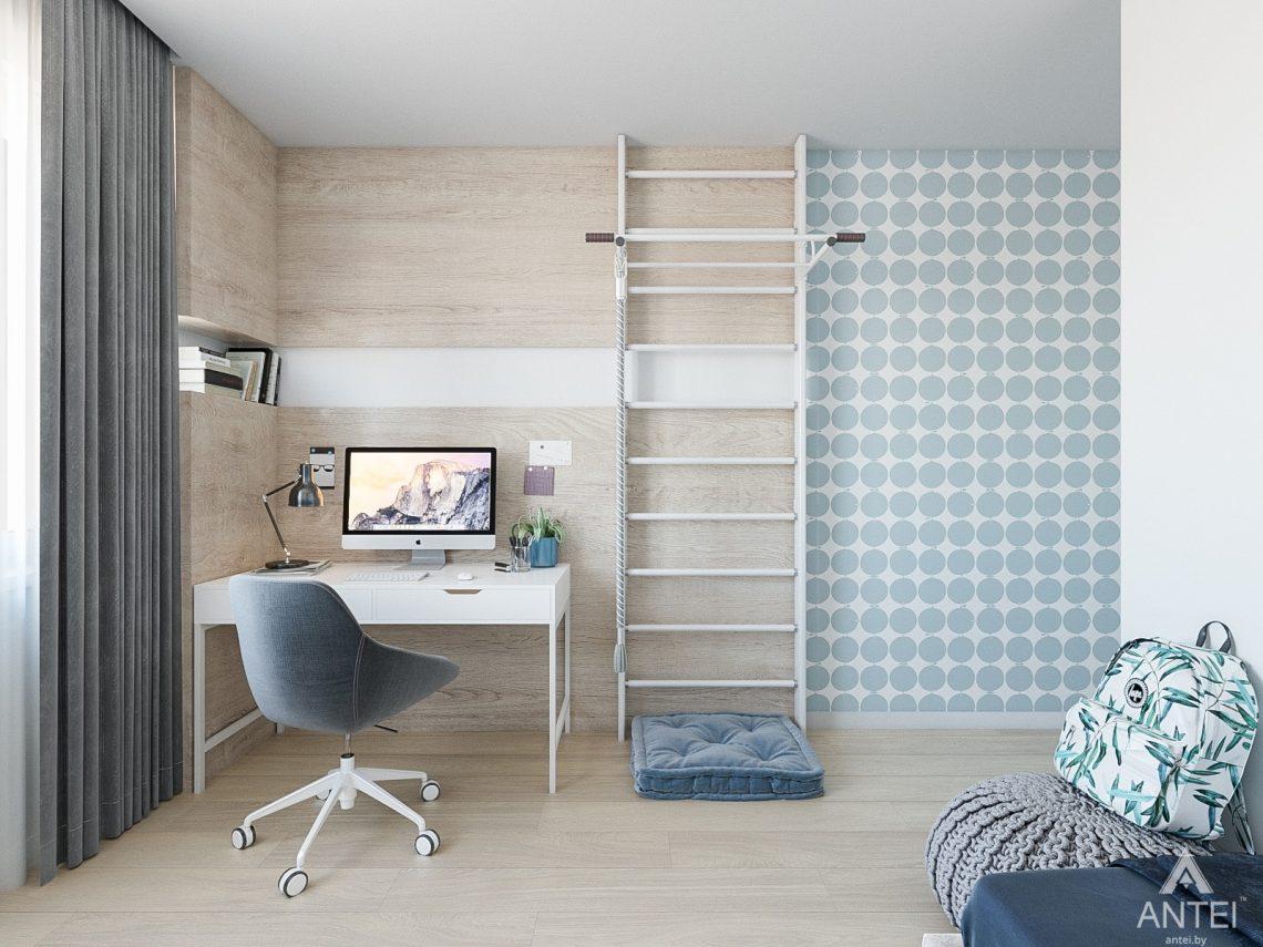 Дизайн интерьера таунхауса в Варшаве - детская комната фото №4
