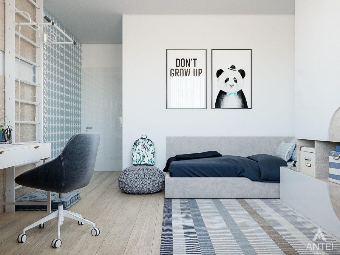 Дизайн интерьера таунхауса в Варшаве - детская комната фото №5