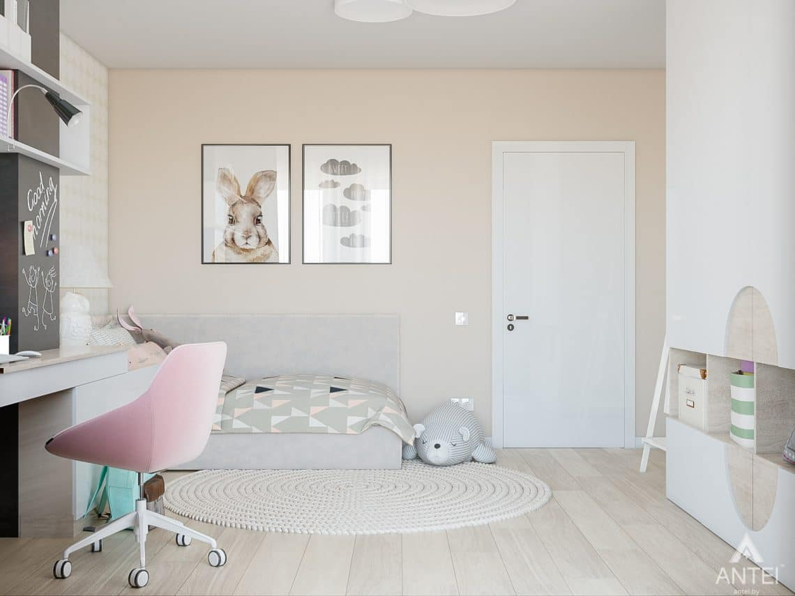 Дизайн интерьера таунхауса в Варшаве - детская комната фото №3