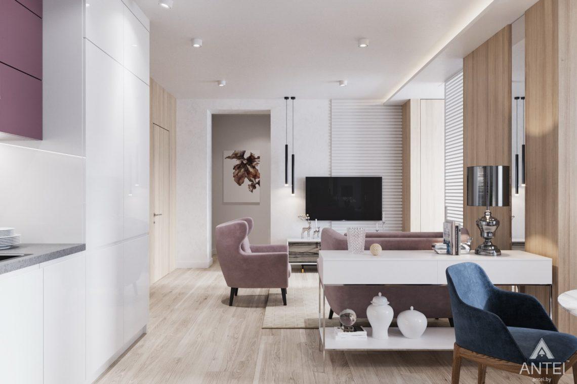 Дизайн интерьера трехкомнатная квартира в Минске, ул. Нововиленская - гостиная фото №2
