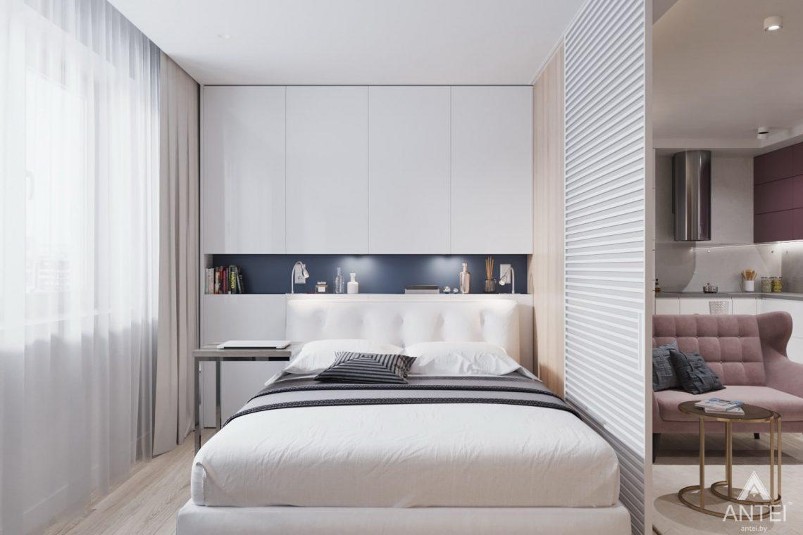 Дизайн интерьера трехкомнатная квартира в Минске, ул. Нововиленская - спальня фото №1