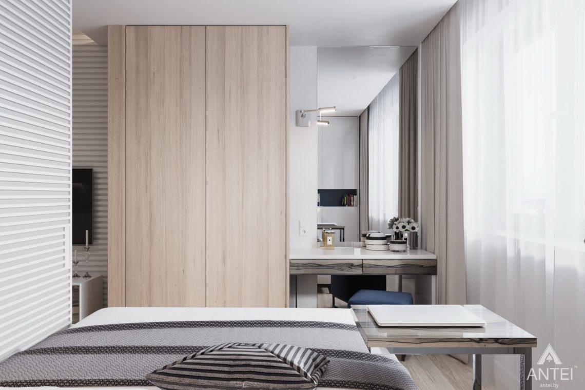 Дизайн интерьера трехкомнатная квартира в Минске, ул. Нововиленская - спальня фото №2