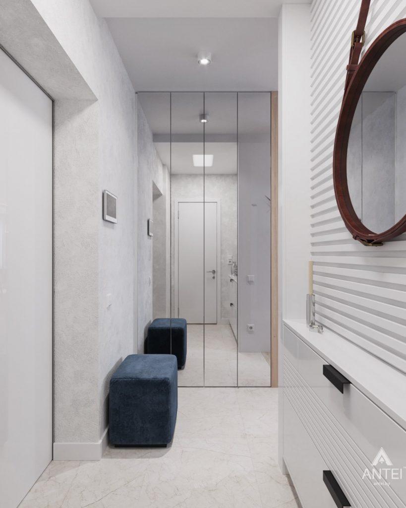 Дизайн интерьера трехкомнатная квартира в Минске, ул. Нововиленская - прихожая фото №1