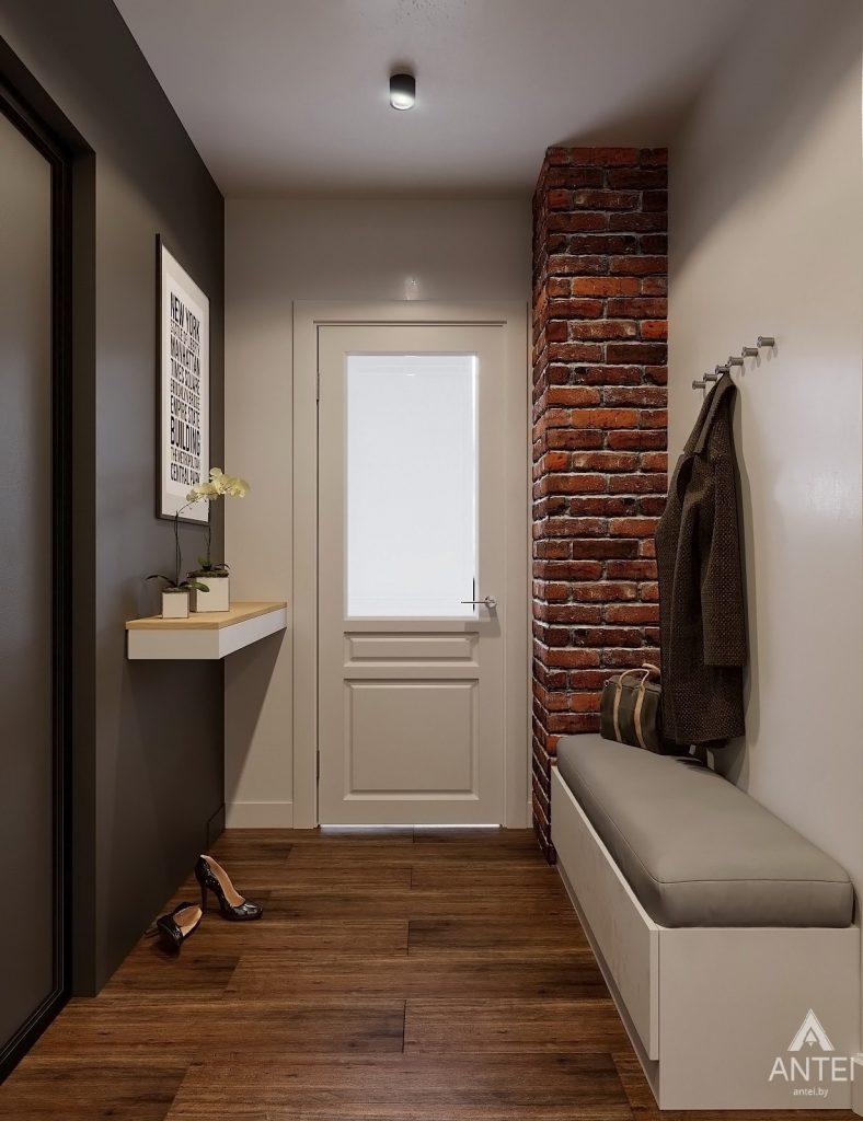 Дизайн интерьера двухкомнатной квартиры в Гомеле, ул. Советская - прихожая фото №4