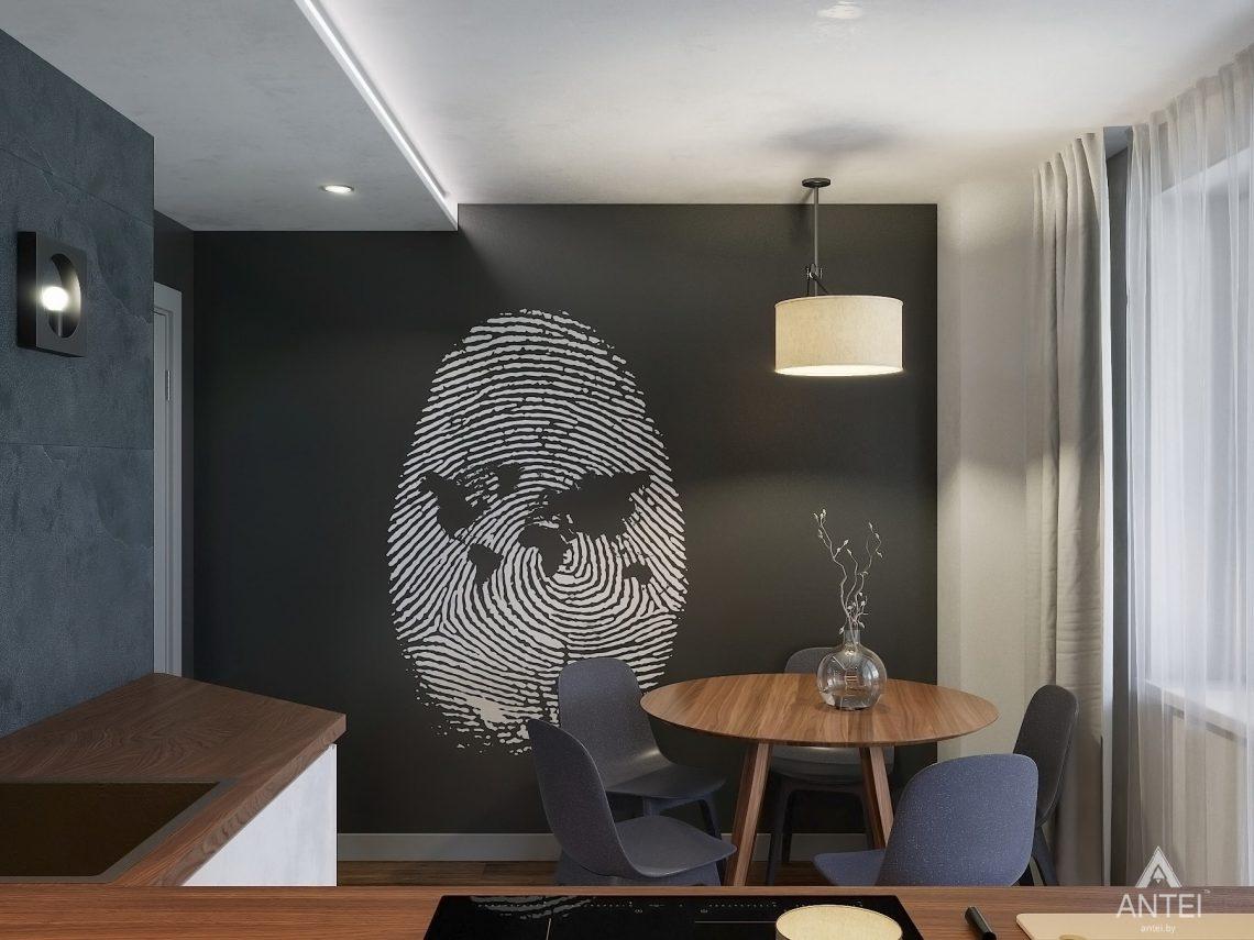Дизайн интерьера двухкомнатной квартиры в Гомеле, ул. Советская - кухня фото №4
