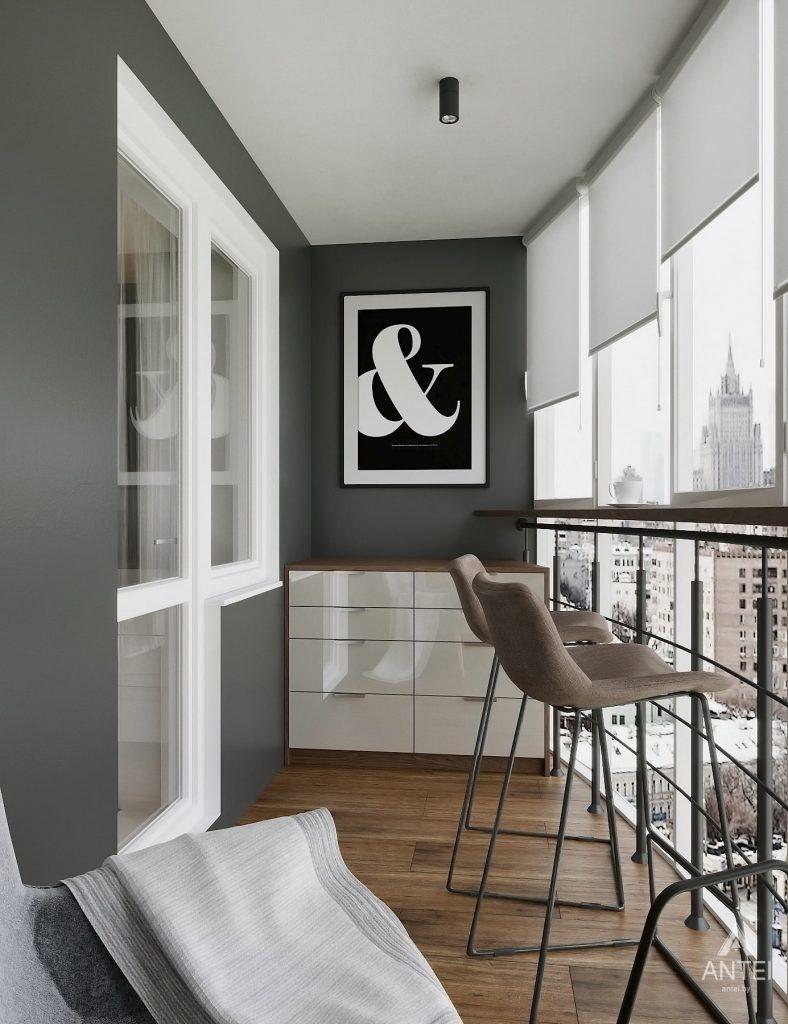 Дизайн интерьера двухкомнатной квартиры в Гомеле, ул. Советская - лоджия фото №1