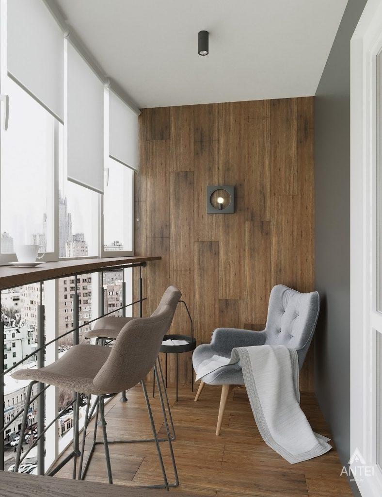 Дизайн интерьера двухкомнатной квартиры в Гомеле, ул. Советская - лоджия фото №2