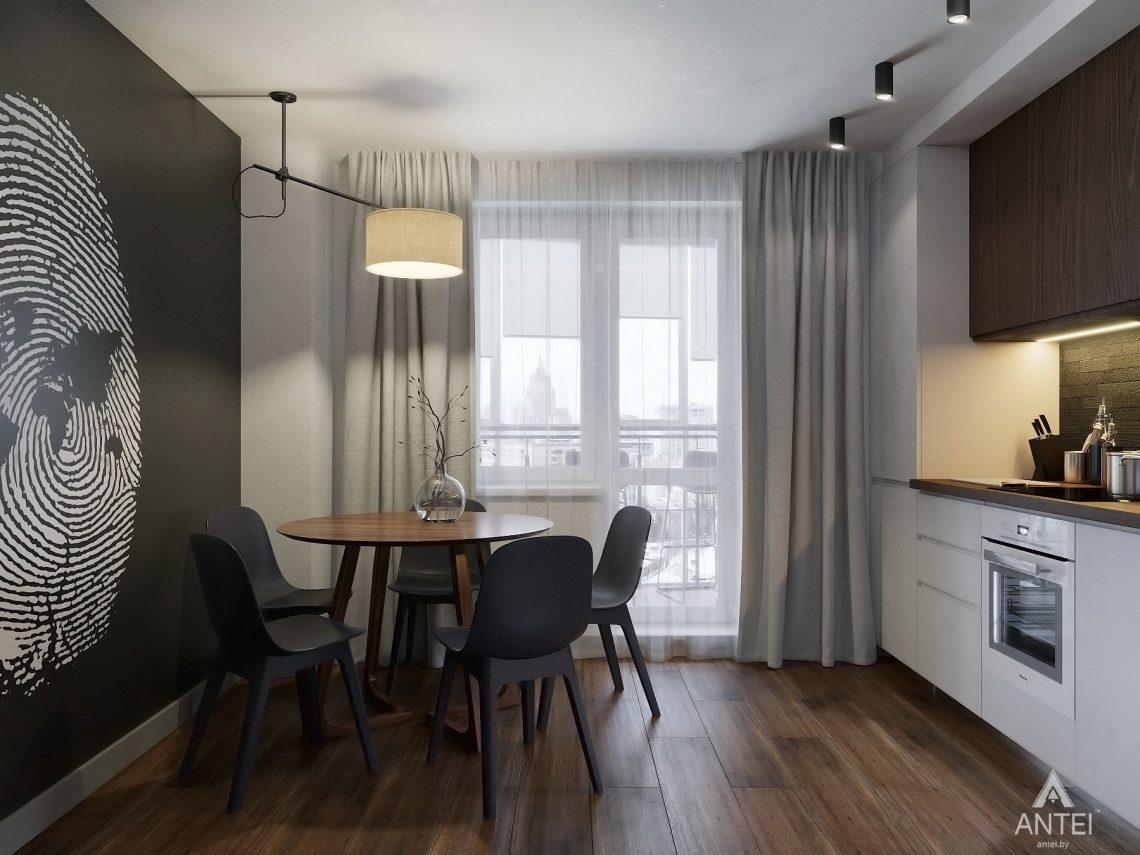 Дизайн интерьера двухкомнатной квартиры в Гомеле, ул. Советская - кухня фото №2
