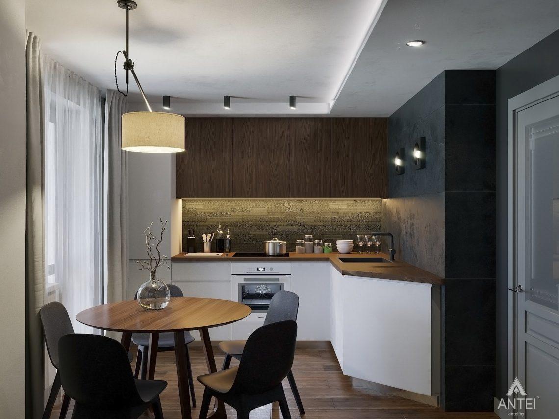 Дизайн интерьера двухкомнатной квартиры в Гомеле, ул. Советская - кухня фото №1