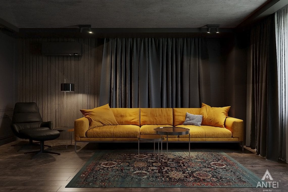 Дизайн интерьера двухкомнатной квартиры в Гомеле, ул. Советская - гостиная фото №1