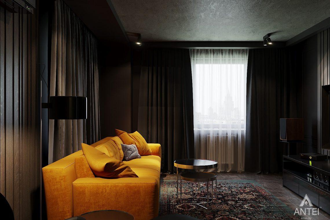 Дизайн интерьера двухкомнатной квартиры в Гомеле, ул. Советская - гостиная фото №3