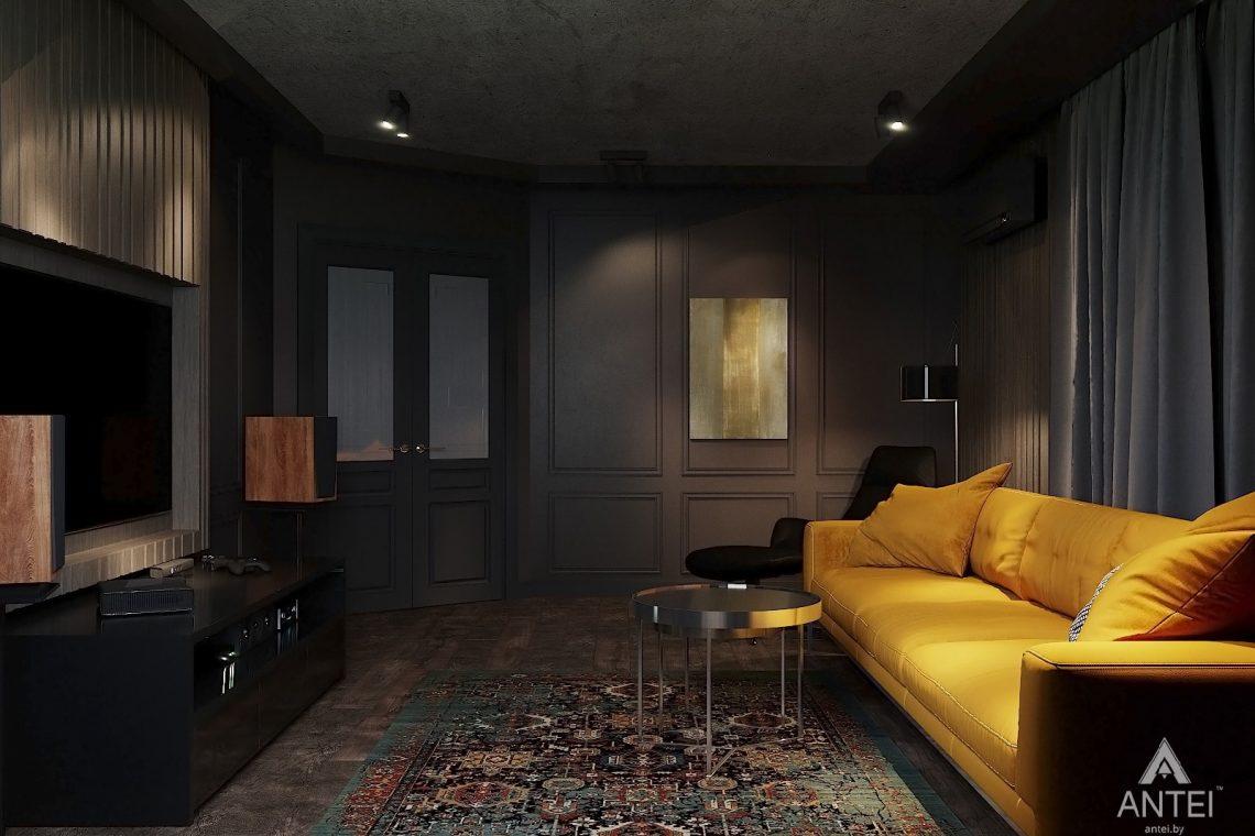 Дизайн интерьера двухкомнатной квартиры в Гомеле, ул. Советская - гостиная фото №4
