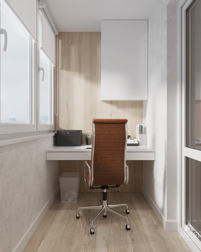 Дизайн интерьера трехкомнатная квартира в Минске, ул. Нововиленская - лоджия фото №1